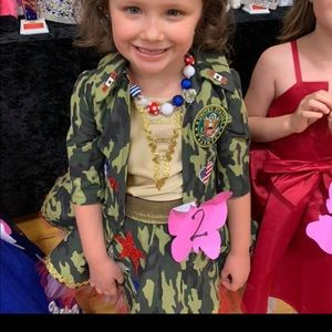 Size 4/5 custom military pageant outfit